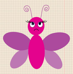 icon butterfly, cartoon