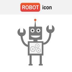 Robot icon vector. Artificial intelligence elements AI. Robot vector