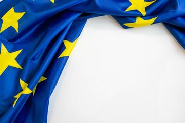 Fabric texture flag of European Union Wall mural
