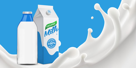 milk splash 3d vector backgrond illustration
