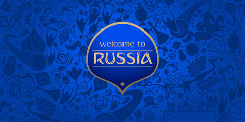 Welcome to Russia, vector template