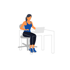 Workout for freelancers and bloggers