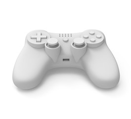 video game controller on white background with clipping path.