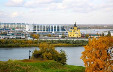 The construction of a new football stadium in Nizhny Novgorod