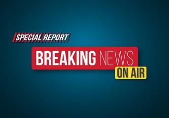 Illustration of Breaking News Opening Scene. Vector Broadcast Breaking News Banner Template