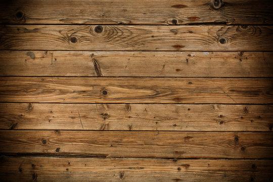 Wood floor texture with vignette