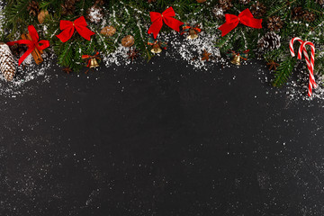 Christmas decoration background, copy space