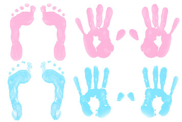 Handprints and Footprints in Paint