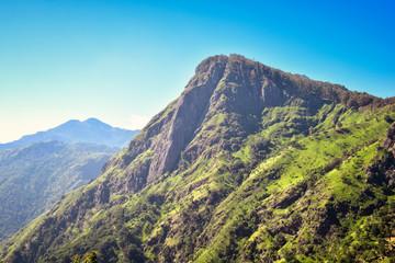 mountain in Sri Lanka, view of Ella Rock