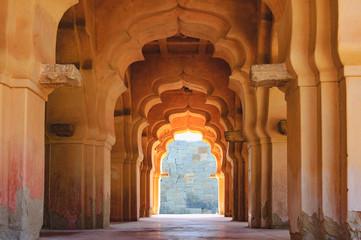 Wall Mural - Old ruined arch of Lotus Mahal in Hampi, Karnataka, India.
