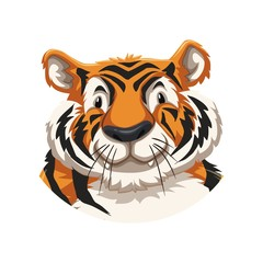 Tiger logo vector illustration mascot