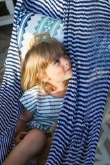 Little girl in hammock
