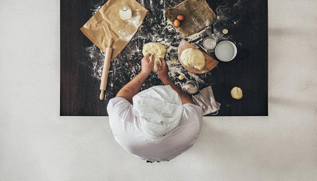 Chef Kneading Dough