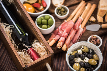 Tapas made for sharing at party or in bar