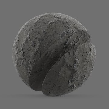 Lunar rubble and sand