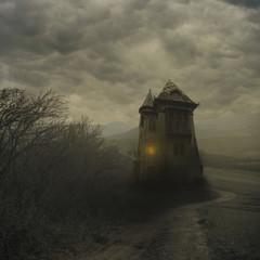 Obraz Halloween haunted house - fototapety do salonu