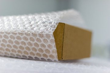 bubble wrap, for protection product cracked  or insurance During transit isolated white background
