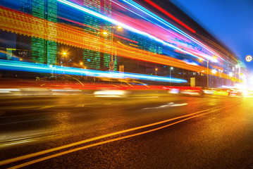 Motion speed effect with City Night Fotomurales