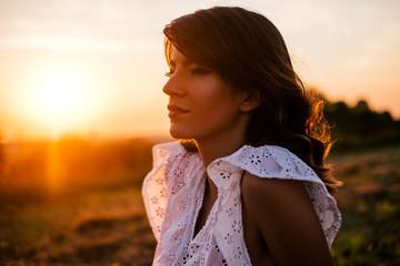 Beautiful Woman During Sunset