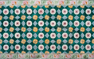 Aged Colorful Tiles Pattern