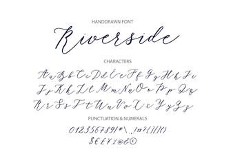 Riverside - handwritten Script font.