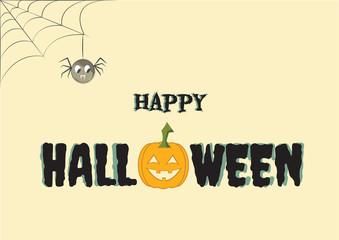Happy halloween poster, vector