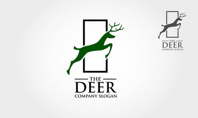 Awesome deer animal logo. Logo template suitable for businesses and product names. This stylish logo design could be used for different purposes for a company, product, service or for all your ideas.
