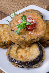 round fried eggplants