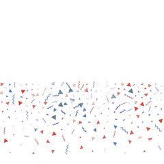 Blue and red confetti. Independence day background