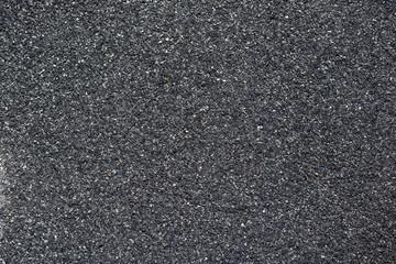 Abstract background of closeup dark asphalt