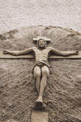 Jesuschrist Sand Sculpture