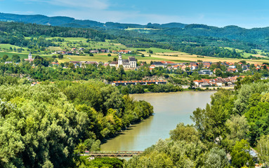 View of the Danube river from Melk Abbey, Austria