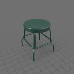 Short metal stool