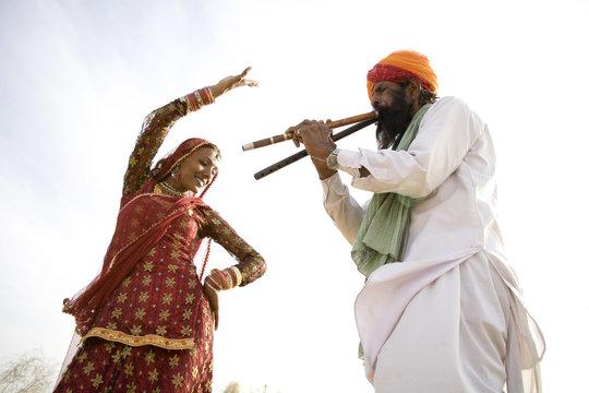 Rajasthani dancer and musician