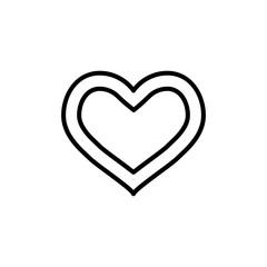 Modern heart line icon.
