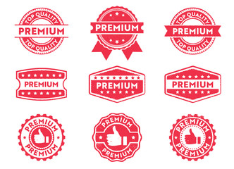 premium grade stamp label
