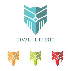 Robotic Owl Abstract Design Logo Vector