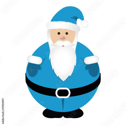 kugel runder weihnachtsmann blau stockfotos und. Black Bedroom Furniture Sets. Home Design Ideas