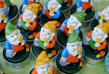 dwarfs shaped candles
