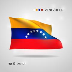 Vector flag of Venezuela