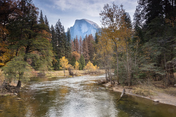 Yosemite National Park Falls Colors Half Dome