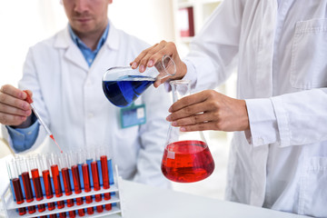 Scientist students working at the laboratory