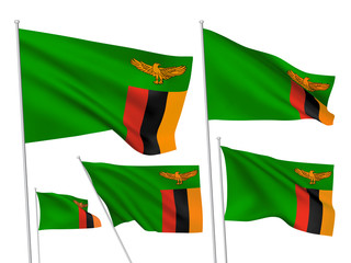 Vector flags of Zambia