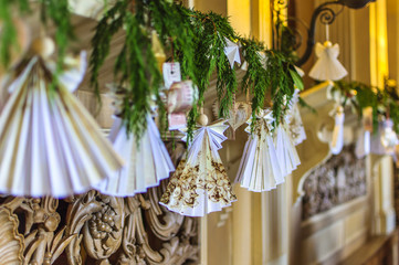 Hand made paper decorations