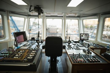 Ship control bridge