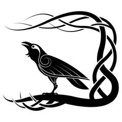Raven. Pagan Crow