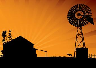 Outback Australia silhouette