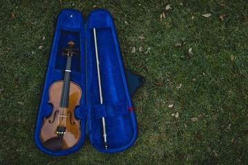 Violin in box