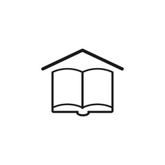 Book line icon on white background