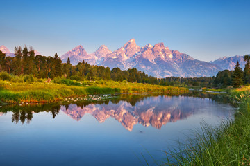 Grand Teton at Schwabacher's Landing on the Snake River, Wyoming